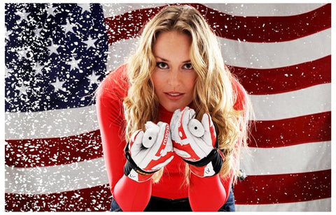Lindsey Vonn US Olympic Ski Team 2010 Gold 11x17 Poster