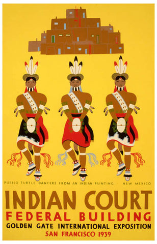 WPA Poster Art Indian Court New Mexico 11x17 Poster