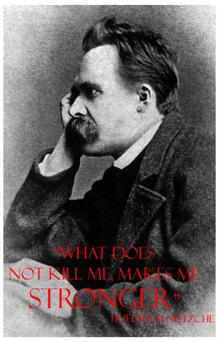 Friedrich Nietzche Stronger Quote 11x17 Poster