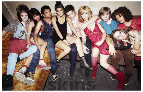 Skins US Cast on Couch MTV 11x17 Poster