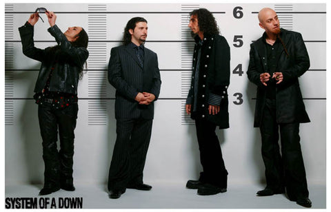 System of a Down Police Line-Up 11x17 Poster