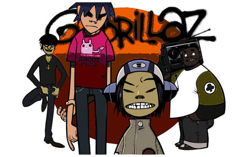 The Gorillaz Band Cartoon Damon Albarn 11x17 Poster