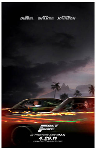 Fast and Furious Fast 5 Vin Diesel 11x17 Poster