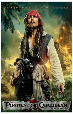 Pirates of the Caribbean On Strange Tides 11x17 Poster
