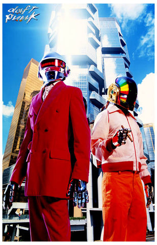 Daft Punk Captains of Industry Portrait 11x17 Poster
