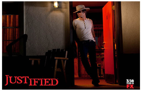 Justified Hotel Harlan Raylan Givens FX TV 11x17 Poster