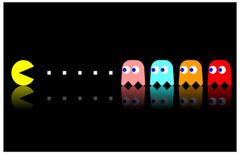 Pac-Man and Ghosts Pinky Blinky Inky Clyde 11x17 Poster