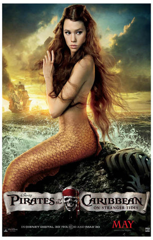 Pirates of the Caribbean Tides Mermaid 11x17 Poster