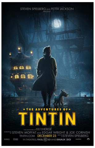 Advetnures of Tintin Movie Poster