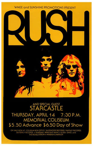 Rush Concert Poster