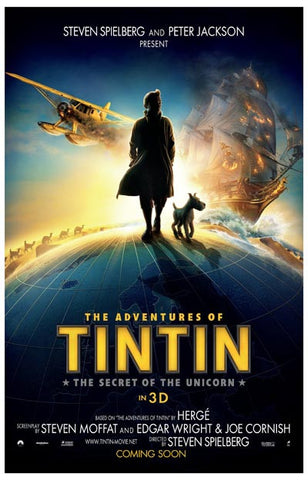 The Adventures of Tintin Unicorn Globetrot 11x17 Poster
