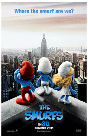 The Smurfs Movie Where the Smurf Are We? 11x17 Poster