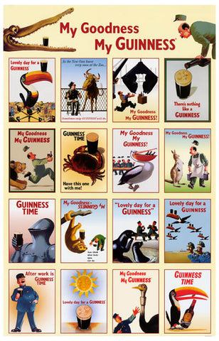 My Goodness My Guinness 16 Classic Pics 11x17 Poster