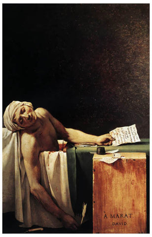 The Death of Marat Jacques-Louis David Art 11x17 Poster