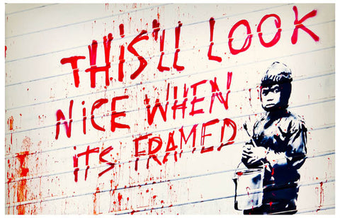 Banksy Quote Poster
