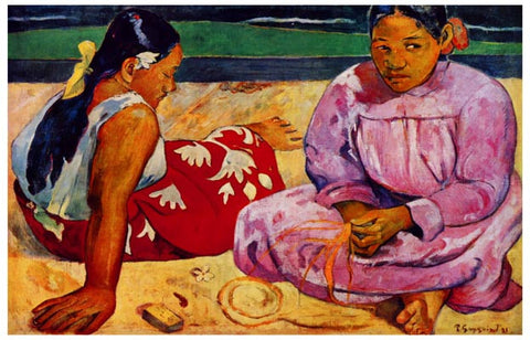 Tahitian Women at the Beach Paul Gaugin 11x17 Poster