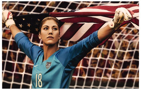 Hope Solo US Women's Soccer Team Poster