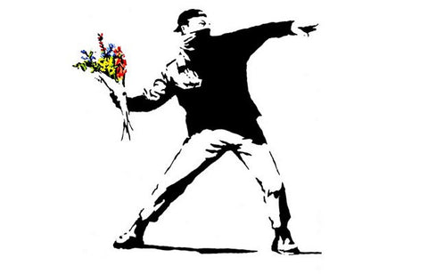 Banksy Flower Thrower Poster