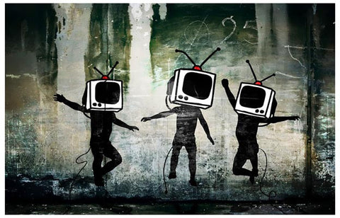 Banksy Television Head Dance Poster