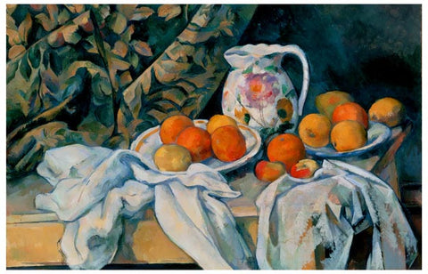 Paul Cezanne Still Life with a Curtain Poster