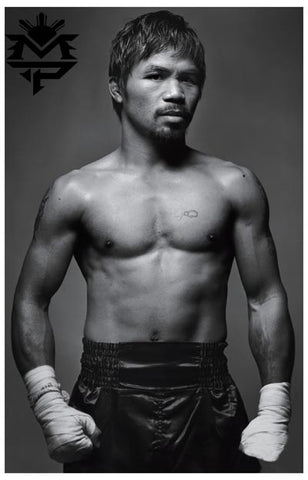 Manny Pacquiao Boxing Portrait Poster