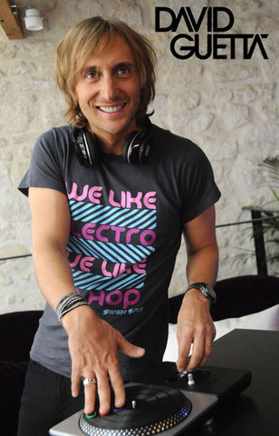 DJ David Guetta Smile and Spin Portrait 11x17 Poster