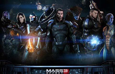 Mass Effect 3 Commander Shepard and Co 11x17 Poster