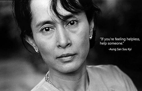 Aung San Suu Kyi Help Someone Quote 11x17 Poster