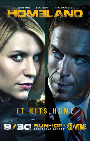 Homeland It Hits Home Daines Lewis 11x17 Poster