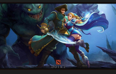 DotA 2 Pirate and Damsel Defense of the Ancients Poster 11x17