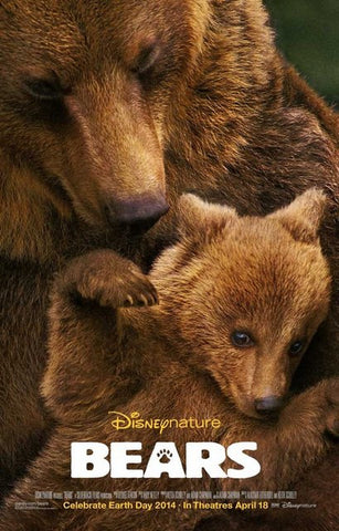 Bears Disneynature Documentary Film Poster 11x17