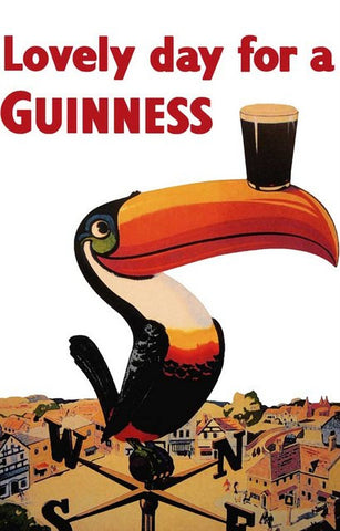 Guinness Toucan Beer Ad Poster