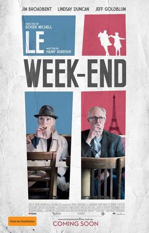 Le Week-End British Drama Film Poster 11x17