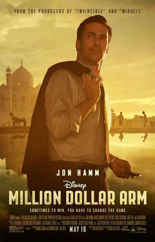 Million Dollar Arm Jon Hamm Disney Movie Poster 11x17