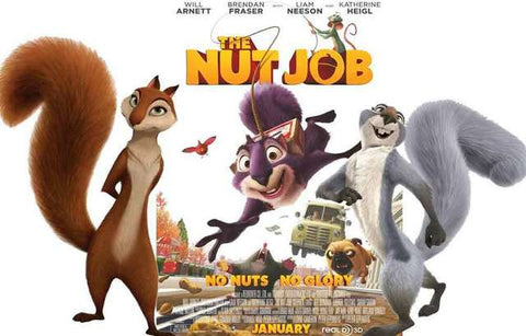 Nut Job No Nuts No Glory Squirrels Animated Kids Movie Poster 11x17