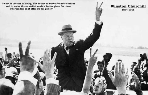 Winston Churchill Noble Cause Quote Poster 11x17