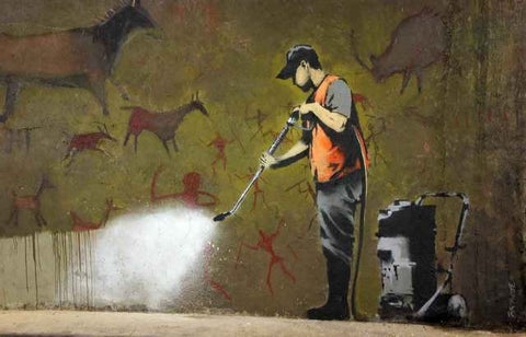 Banksy Wall Washer Poster