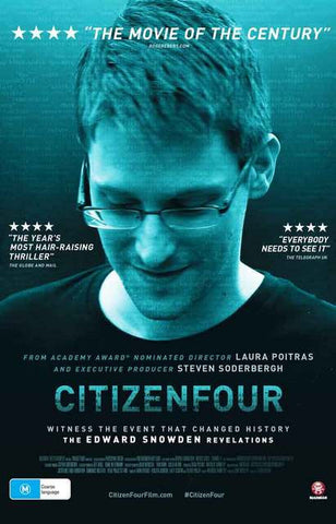 Citizenfour Edward Snowden Documentary Film Poster 11x17