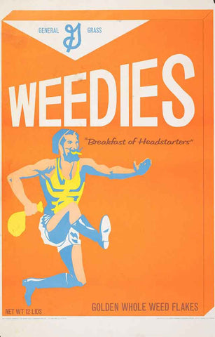 Weedies Wheaties Parody Poster