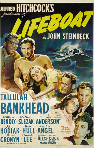 Lifeboat Alfred Hitchcock Movie Poster