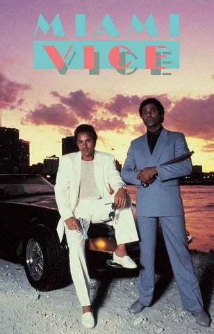 Miami Vice Crockett and Tubbs Poster 11x17