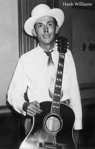 Hank Williams Portrait Poster 11x17