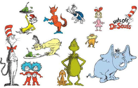 Dr Seuss Characters Poster