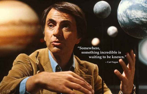 Carl Sagan Quote Poster
