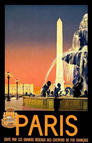 Paris France Travel Poster