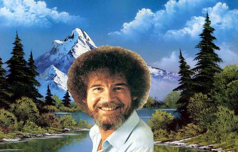 Bob Ross Portrait Poster