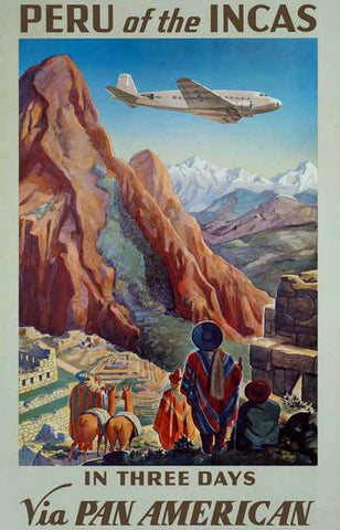 Peru Travel Ad Poster