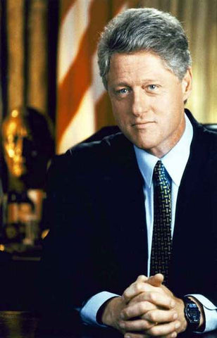 Bill Clinton Portrait Poster