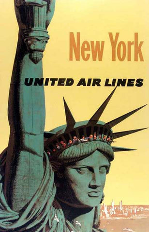 New York City Liberty Travel Ad Poster 11x17