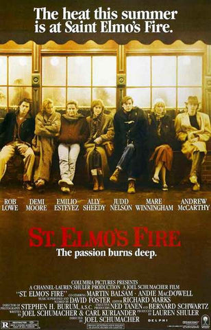 St Elmo's Fire Movie Poster